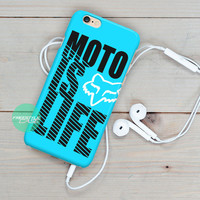 Motocross is life FOX Racing Gear iPhone Case Cover Series