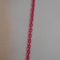 Hot Pink Colored Chain Layer Necklace, Unique Jewelry for Women Teen Tween, Gift for her, Womens Pink Necklace, Everyday Jewelry Minimal