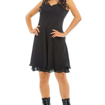 Vintage 90's Night Dahlia Mini Dress - S/M