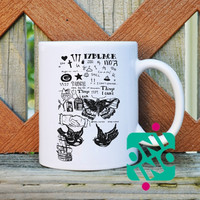 17 Black Collage Harry Style Coffee Mug, Ceramic Mug, Unique Coffee Mug Gift Coffee