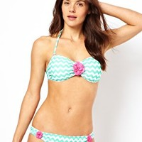 South Beach Chevron Stripe Bikini at asos.com