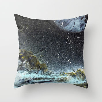 Path to Space  Throw Pillow by Lunacy Eavee