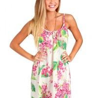 Feel Alive Ivory Floral Swing Dress   Monday Dress Boutique