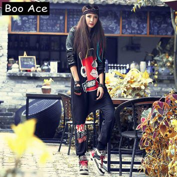 2017 Boo Ace Winter Hip-hop Anime Printed Jumpsuit for Women Bodysuit Hippie Baggy Rompers Womens Jumpsuit Free Size 301201