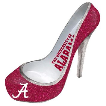 University of Alabama Crimson Tide Glitter Shoe Bottle Holder