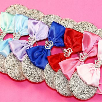 Princess Sparkle Ears with Rhinestone Crown