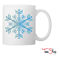 2 Color Winter Snowflake Coffee & Tea Mug