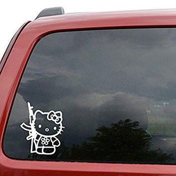Hello Kitty AK Machine Gun Car Window Vinyl Decal Sticker