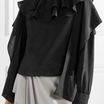JW Anderson - Ruffled silk-chiffon top