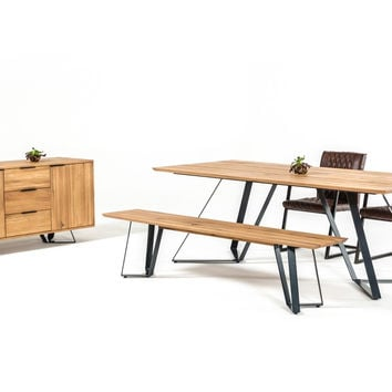 Finn Drift Oak Dining Set with Buffet