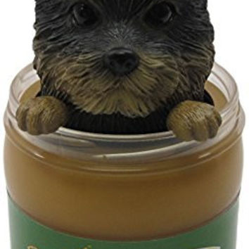 Idea Max Peek-A-Pet Bobble Heads Peanut Butter Yorkshire Terrier (Jar)
