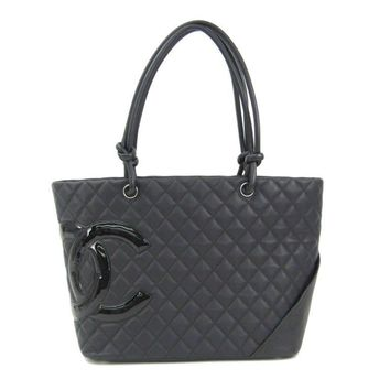 Chanel Cambon Line A25169 Women's Tote Bag Black BF308888