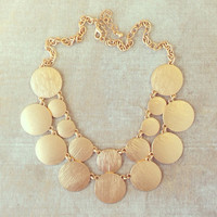 MAYAN GOLD NECKLACE