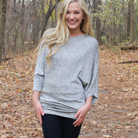 Slouchy Gray Top
