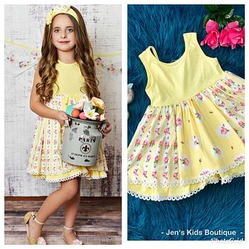 Swoon Baby Spring Buttercup Easter Dress.