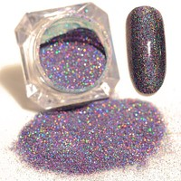 Women Starry Nail Holographic Glitters Dust Pot