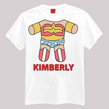 Wonder Woman Personalized Shirt Your Name On Shirt Headless Shirt Cartoon Body Shirt