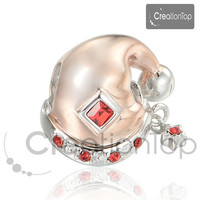 925 Silver Charm for any Pandora bracelet Christmas Hat Charms