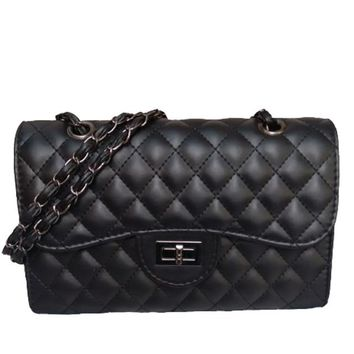 Quilted Chain Detail Cross-body Purse