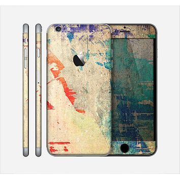 The Grunge Multicolor Textured Surface Skin for the Apple iPhone 6 Plus