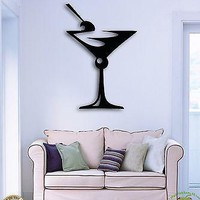 Wall Sticker Drink Glass Of Martini Great Decor For Bar Or Kitchen Unique Gift z1505