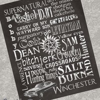 Wall Art - Supernatural from Sparkle Designs