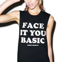 Married to the Mob Face It Muscle Tee Black