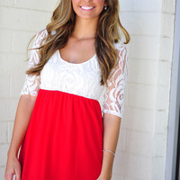 RESTOCK: She's So Rosy Dress: Bright Red | Hope's
