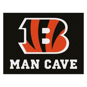 Cincinnati Bengals NFL Man Cave All-Star Floor Mat (34in x 45in)