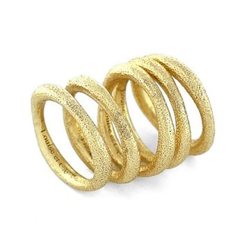 Louise et Cie Textured Rings (Set of 5) | Nordstrom