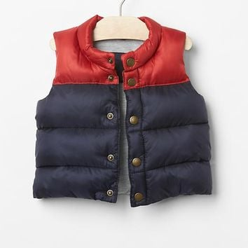 Gap Colorblock Puffer Vest