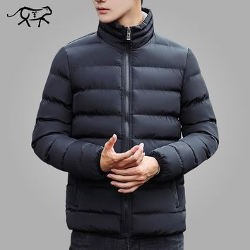 Brand Winter Jacket Men Coats New Stand Collar Cotton Padded Fashion Jacket And Coat Men Parkas Casual Outerwear Warm M-5XL