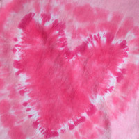 HEART T  shirt, short sleeve, cotton, hand dyed, children, youth, tie dye, pink, hot pink, light pink