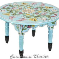 Moroccan Petite Table, Blue (FN067)