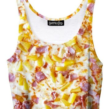 Pineapple Pizza Foodie Crop Top