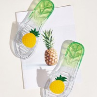 Pineapple Decor Clear Flat Sliders