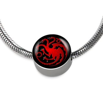 Mother Of Dragons Targaryen Game of Thrones Pandora-style Charm Bracelet