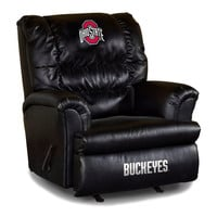 Ohio State University Big Daddy Leather Recliner