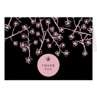 Vibrant, Vintage Floral Thank You Cards