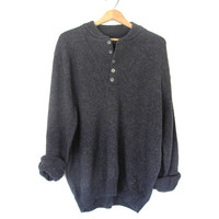 STOREWIDE SALE...vintage dark gray sweater. oversized sweater. XL