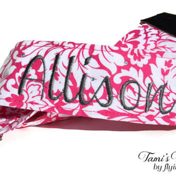 Personalized Pink Camera Strap, Floral Camera Strap, DSLR Camera Strap, Canon, Nikon, Embroidered Camera Strap