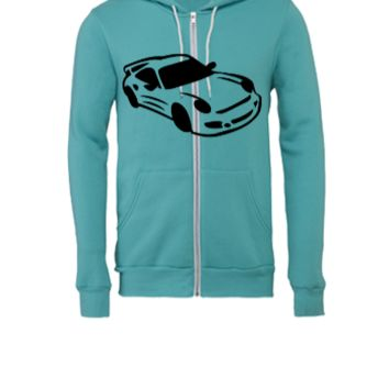 car design t1 - Unisex Full-Zip Hooded Sweatshirt