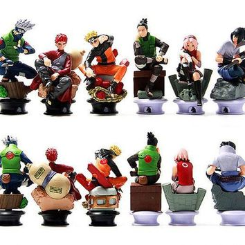 Naruto Sasauke ninja 6pcs/lot  Chess Piece Garage Kits Action Figure Model Classic toys baby toys Best gifts for Children AT_81_8