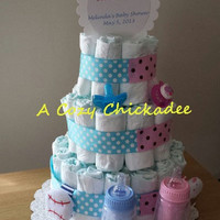 Twins Diaper Cake- Boy/Girl