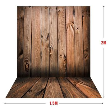 Andoer 1.5*2m Big Photography Background Backdrop Classic Fashion Wood Wooden Floor for Studio Professional Photograph