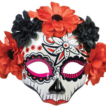 Costume Mask: Day of Dead Skull Female Mask