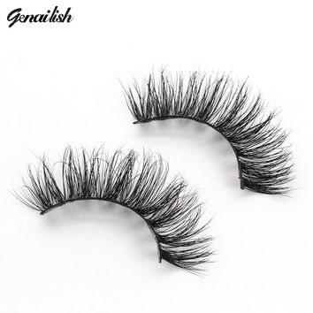 Genailish Lashes 3D Mink Lashes Thick False Eyelashes 19 Styles Full Strip Eyelash Fake Eye Lashes cilios mink A14