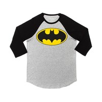 Mens Batman Raglan Tee, Gray Black, at Journeys Shoes