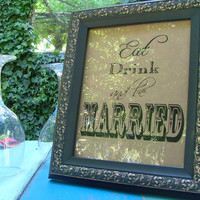 Custom personalized signs for your wedding day by sweetcookie