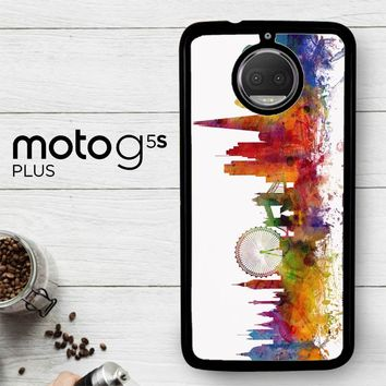 London Skyline Watercolor V0202  Motorola Moto G5S Plus Case